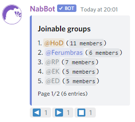 Example group list